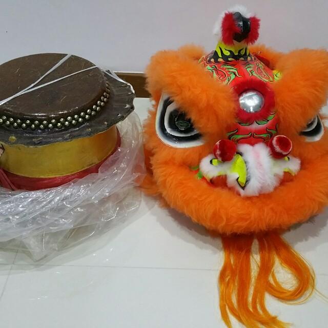 92573268d Kids Lion Dance full set   Drum on Carousell