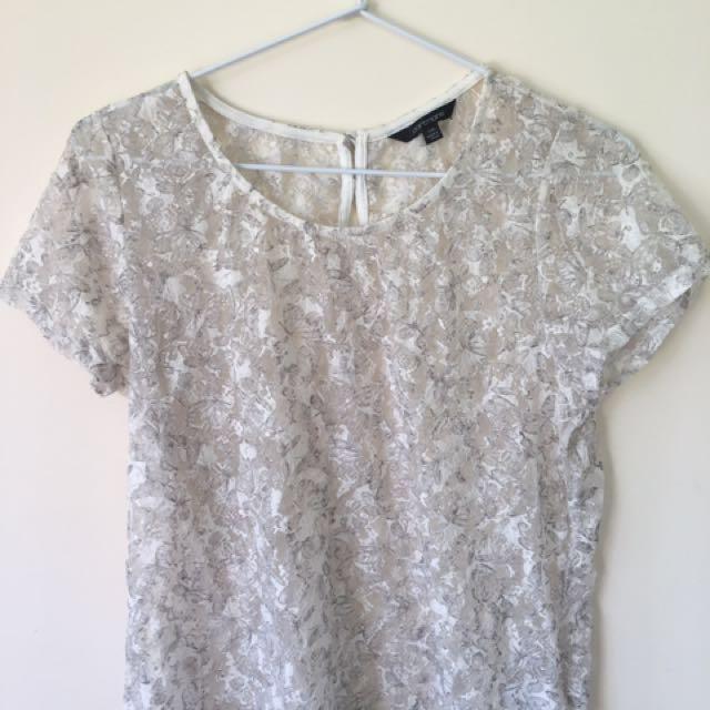 Lace Crop Top Size L boho summer