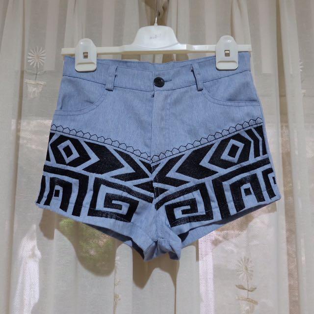 Light Blue Tribal Highwaist Jeans Pants