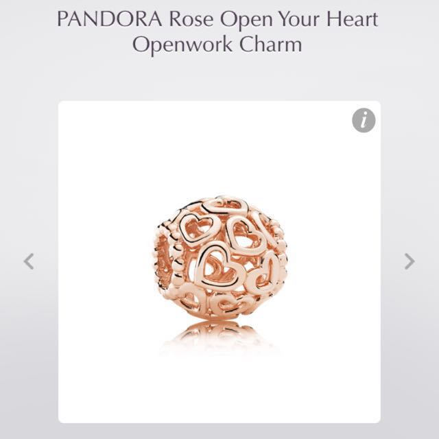 LOOKING FOR ROSE GOLD PANDORA CHARMS
