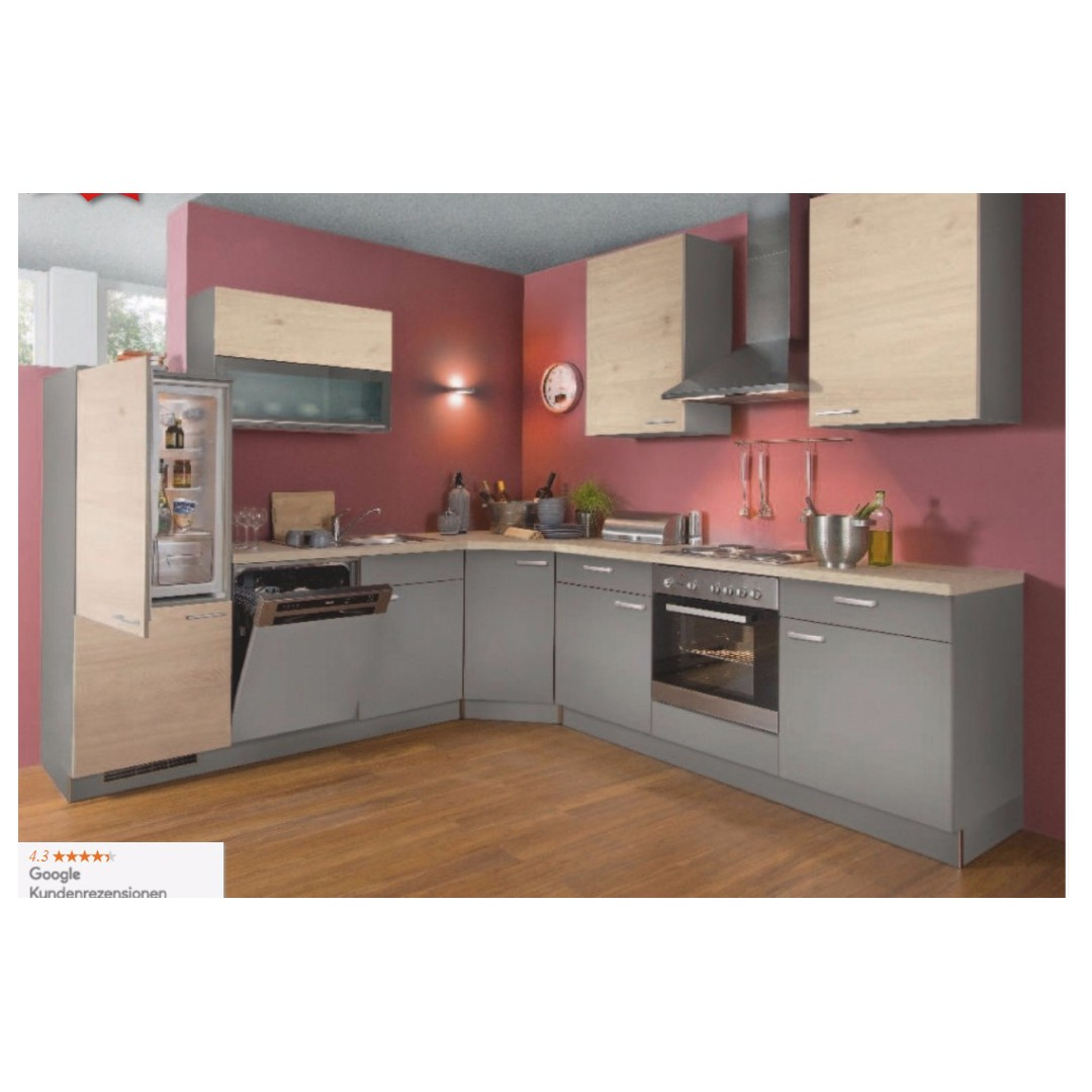 L Shaped Kitchen Cabinet With Electrical Appliances