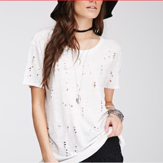 NEW! Forever 21 Distressed Top