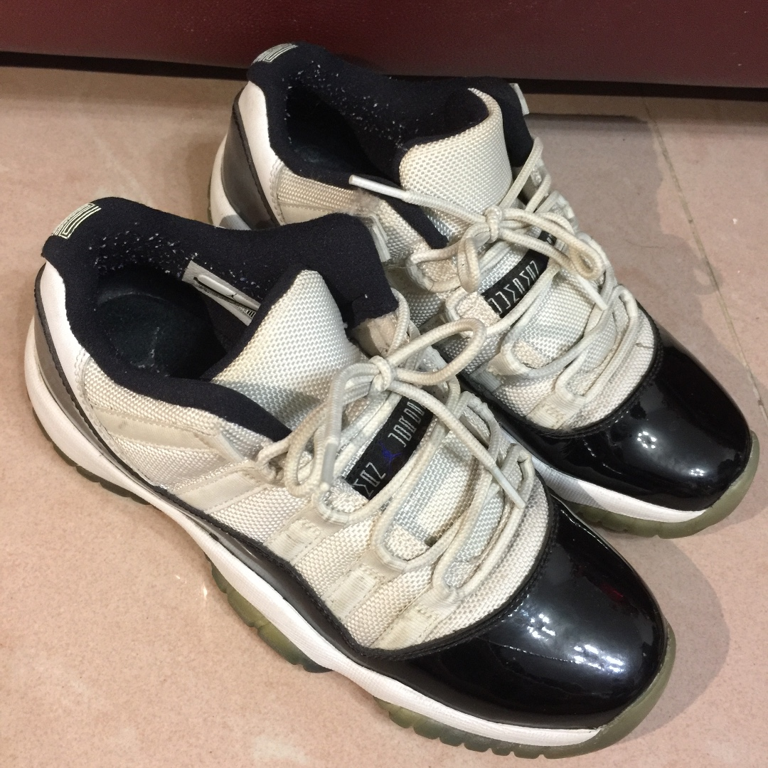 new products 50f7a c0bbe NIKE AIR JORDAN 11 XI AJ11 CONCORD LOW BLACK WHITE PATENT LEGEND ...
