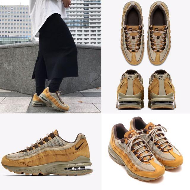 """Nike Air Max 95 GS """"Flax""""駝色 女 日系"""