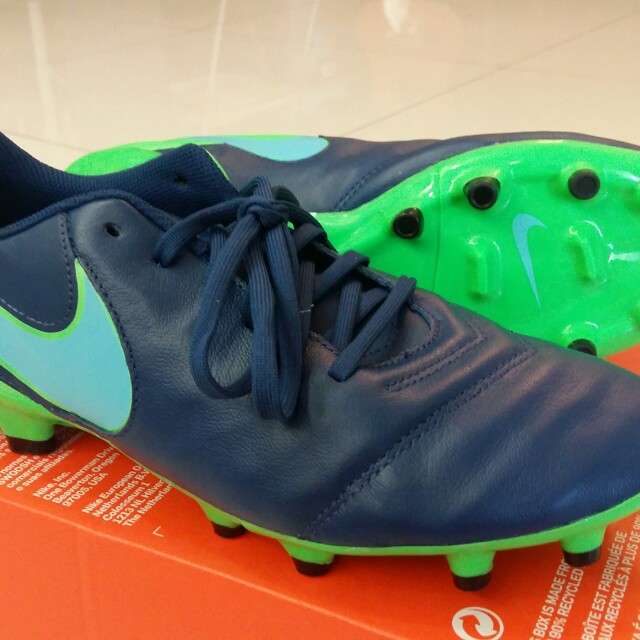 outlet store 1ea32 c120f NIKE TIEMPO GENIO II LEATHER FG, Sports, Athletic  Sports Cl