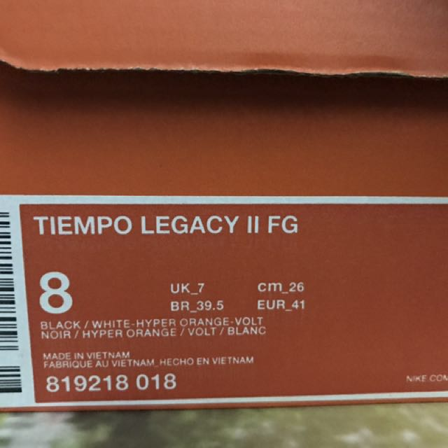 best sneakers fea7a b97af Nike Tiempo Legacy II FG, Sports, Athletic   Sports Clothing on Carousell