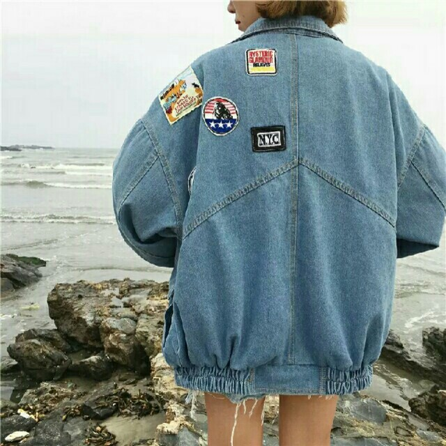 Oversized bf denim outerwear