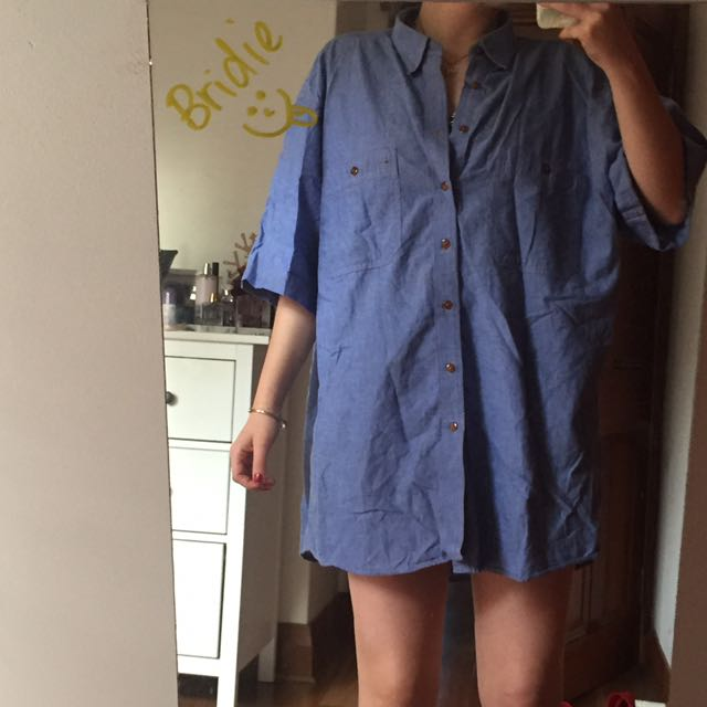 oversized denim shirt/dress