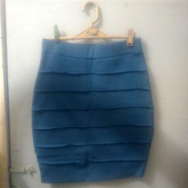 Pencil skirt (blue)