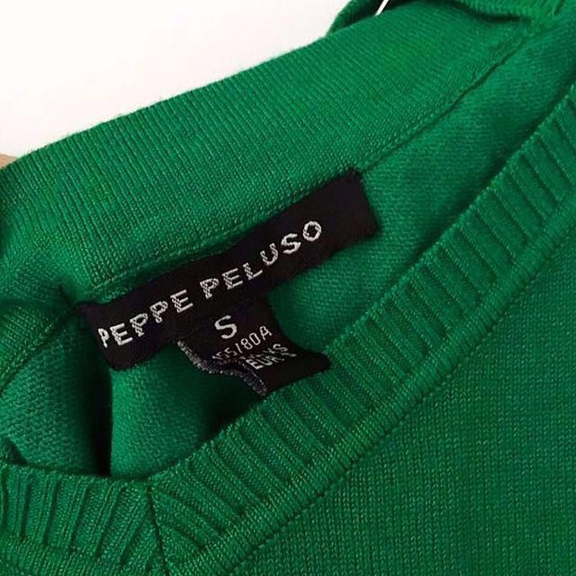 [Peppe Peluso] Pepper At the Party - Emerald Green Knit With Embellished Back