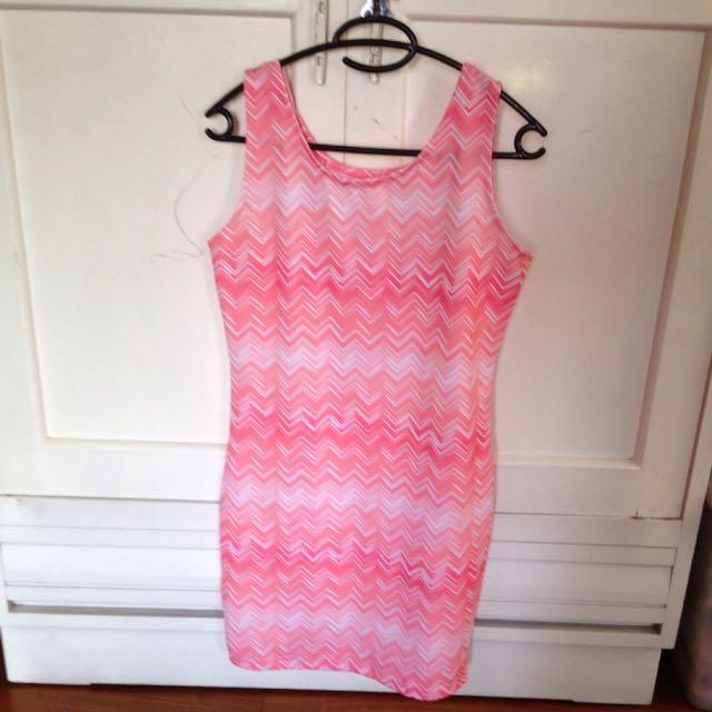 Assymetrical Pink Dress