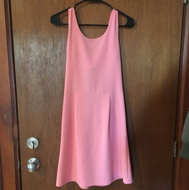 Pink scoop neck dress