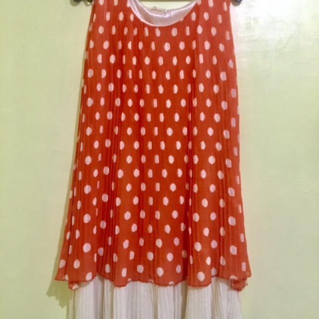 Preloved! Polkadots Orange Dress