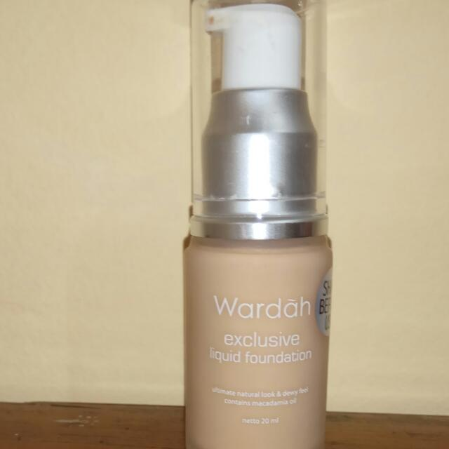 Wardah exclusive liquid foundation shade natural