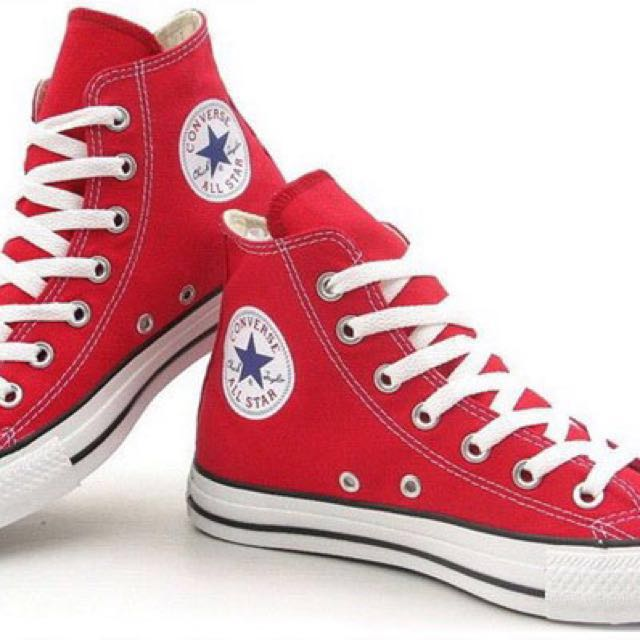 Red Converse High Cut All Star, Women's