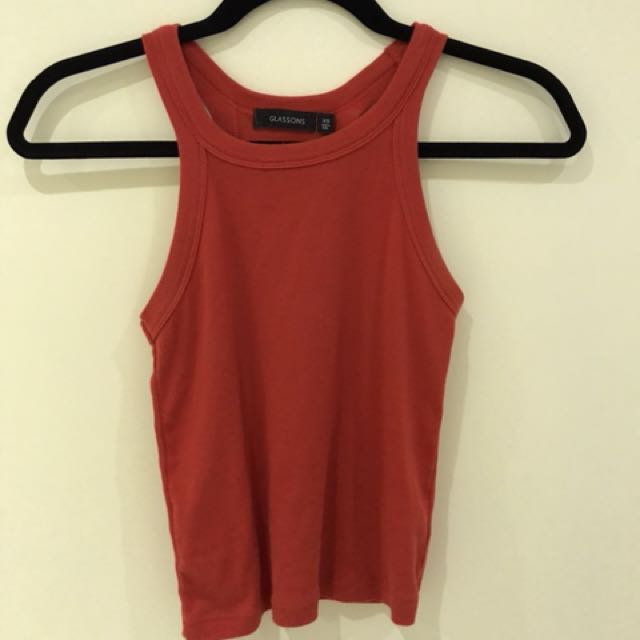 Red Glassons Crop Top