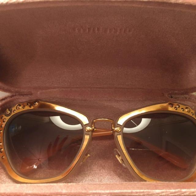 *REDUCED*Miu Miu Rose Gold Sunglasses