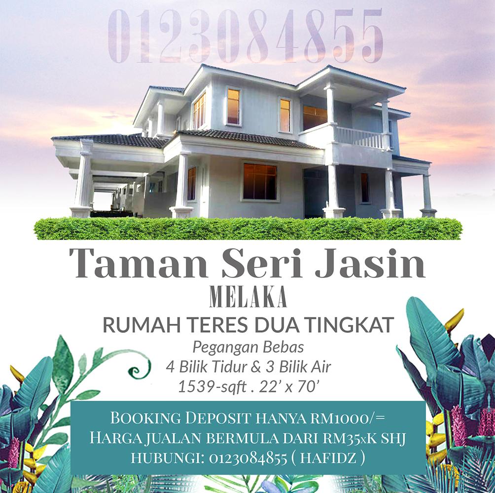 Rumah Teres 2 Tingkat Baru Di Bandar Jasin Melaka
