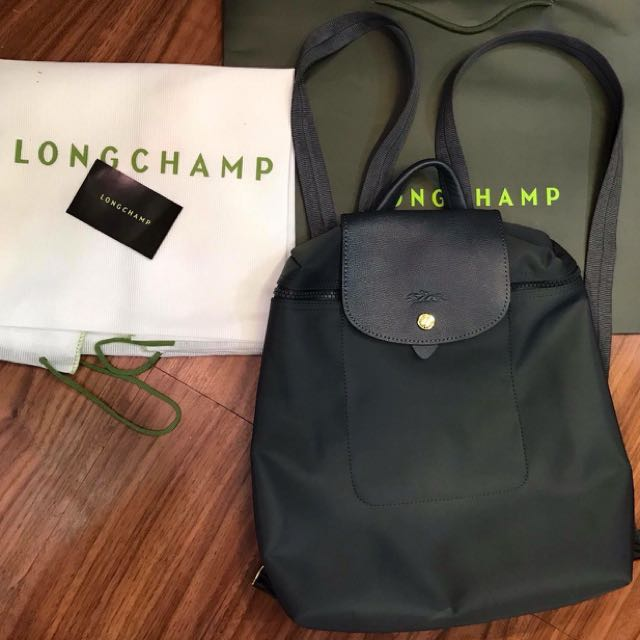 Sale!! Longchamp neo backpack graphite 04a595f35d11b