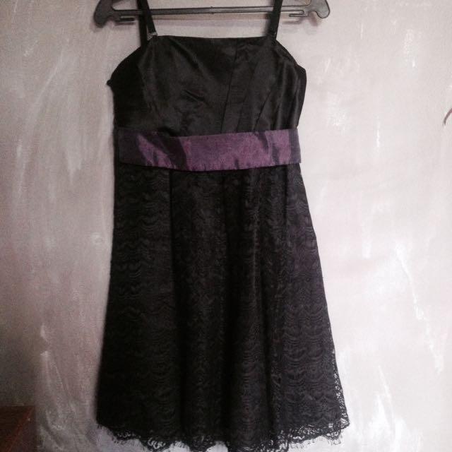 Semi-formal Black Cocktail Dress