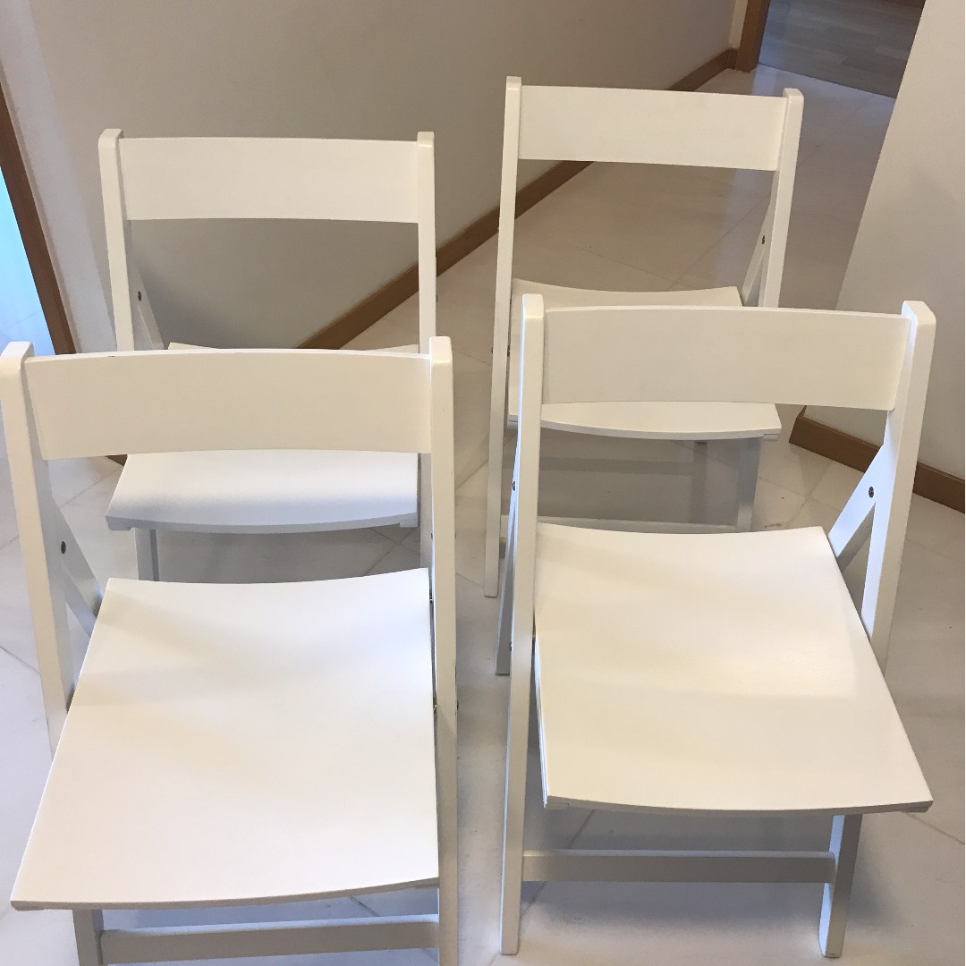 4 crate barrel folding chairs bought for 360 sgd furniture tables chairs on carousell
