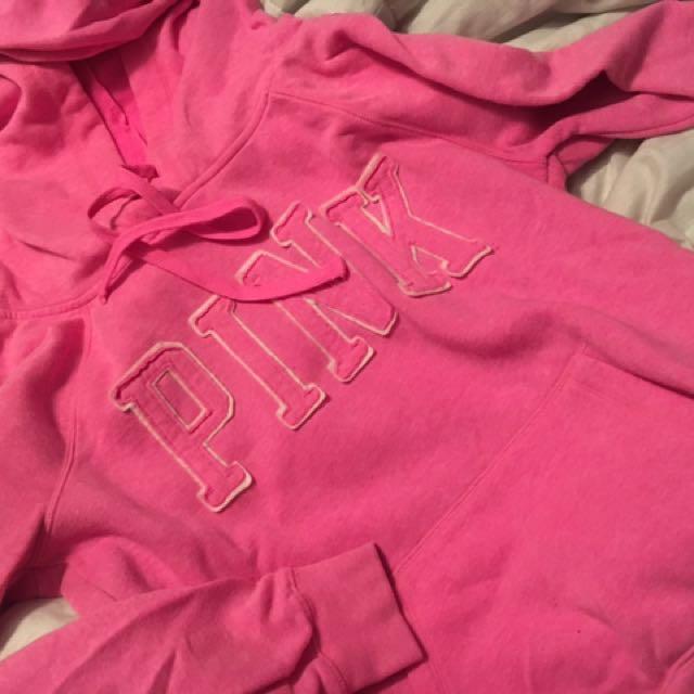Size SM pink hoodid