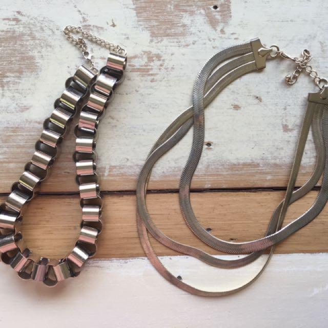 Sportsgirl chain necklaces x 2