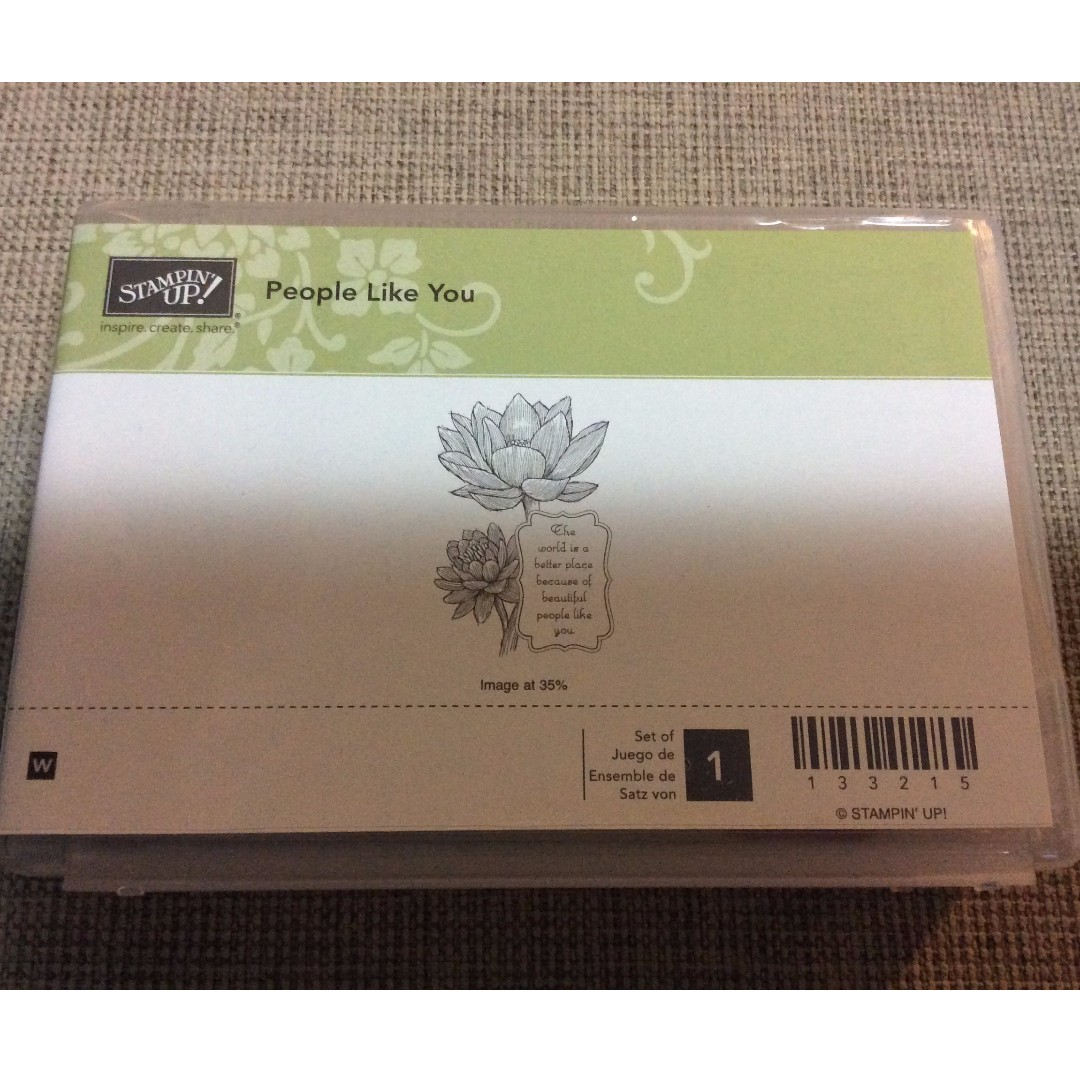 Stampin' Up! People Like You Wood Mount Floral Friendship Stamp Set NEW