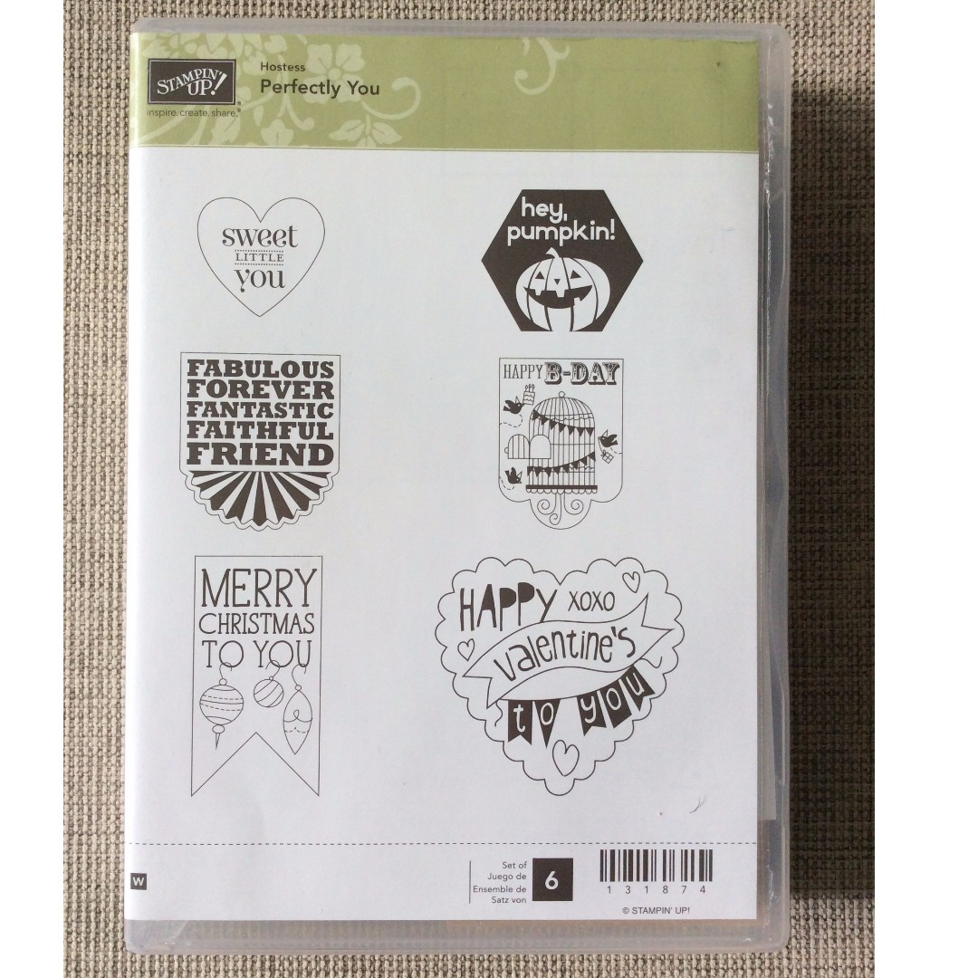 Stampin' Up! Perfectly You Wood Mount Stamp Set NEW - Limited Edition