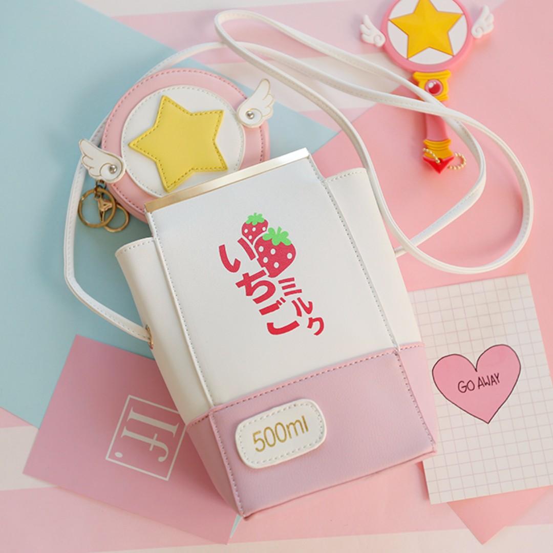 Strawberry Milk Sling Bag