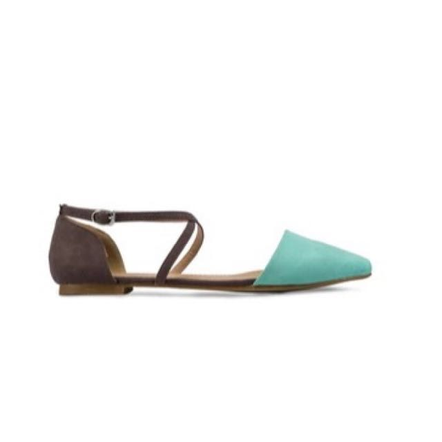 Suede Ankle Strap Flats By Zalora