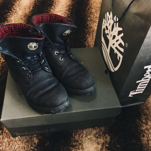 Timberland Men's Waterproof Roll-Top Classic Plaid Boots