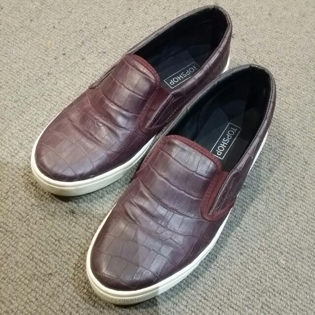 Topshop Red Croc Shoes
