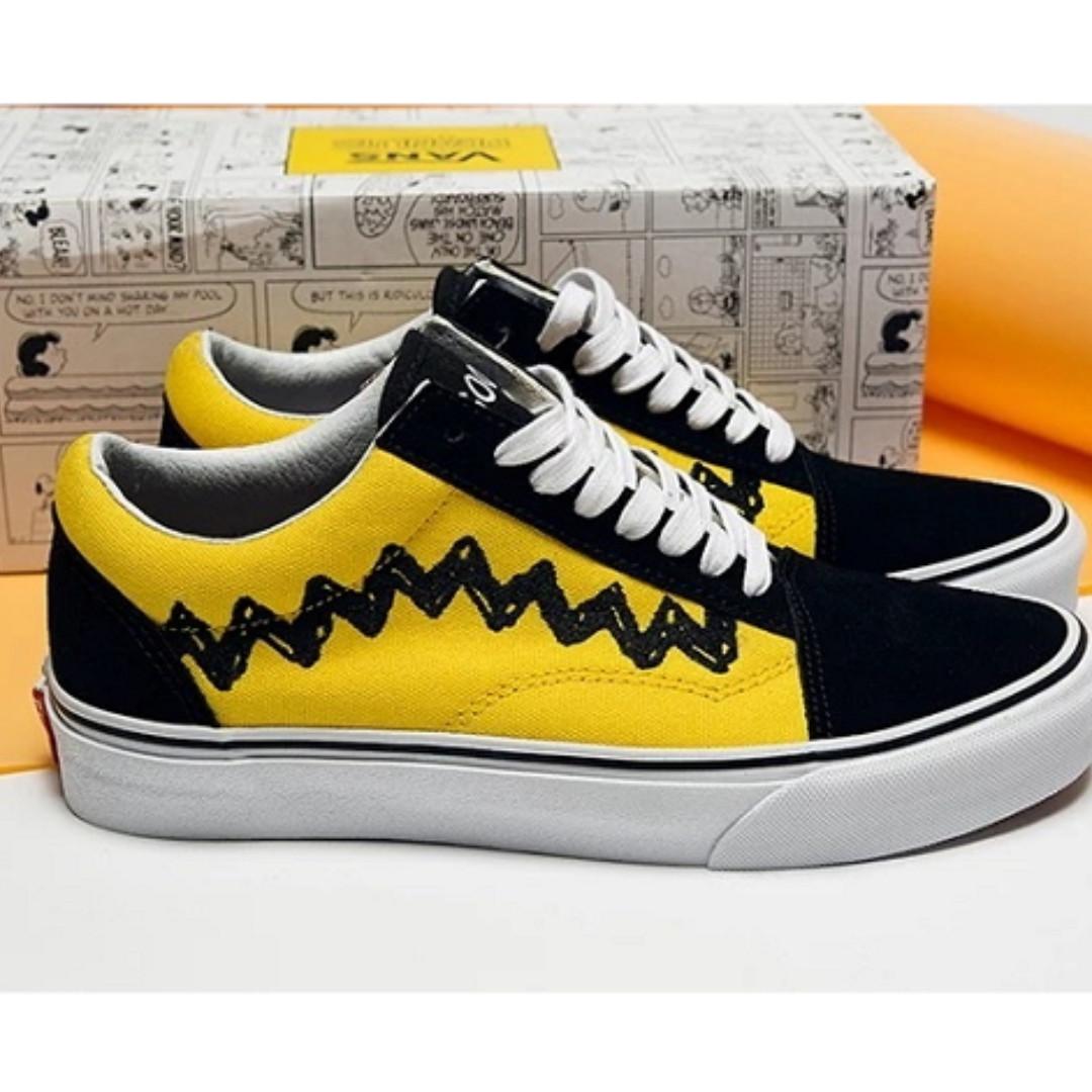 8ecaa29e72 Vans Men Peanuts Snoopy Charlie Brown Old Skool Sneakers EU40 UK6.5 ...
