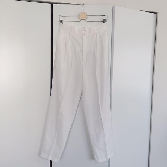 Vintage Wide Leg High Waist Pants