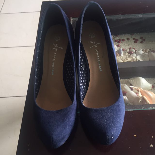 Wedges navy blue 7cm