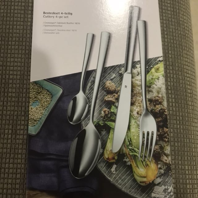 wmf 4 piece cutlery set home appliances on carousell. Black Bedroom Furniture Sets. Home Design Ideas