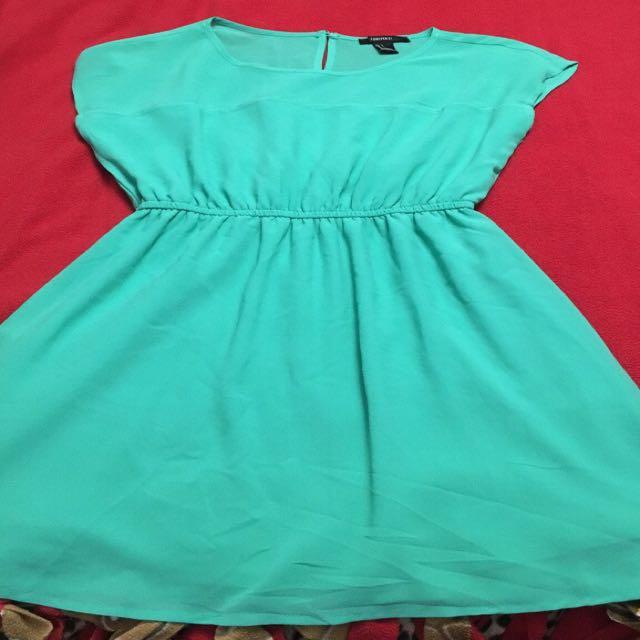 Women's teal sleeveless dress size small