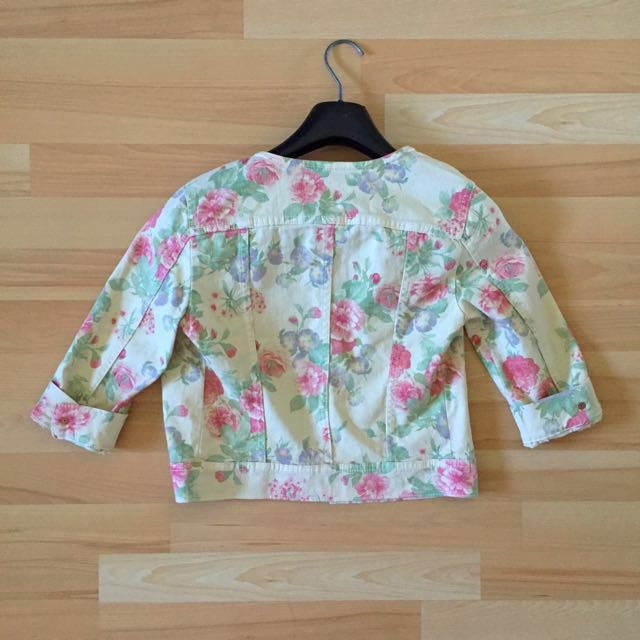 XS United Colours Of Benetton Floral Jean Jacket