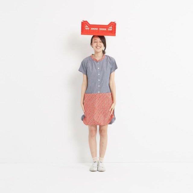 Y1,hsuan日本紅磚花布
