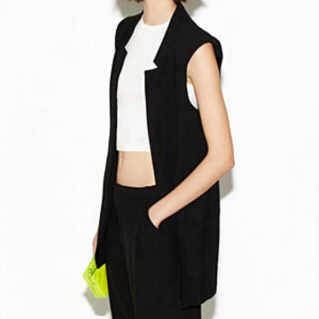 Vest Women's Carousell Outerwear Fashion Black Basic Zara Clothes On UwxqOE8t1