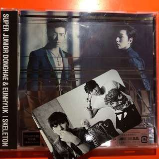 SUPER JUNIOR D&E 日專 SKELETON CD+DVD 赫海