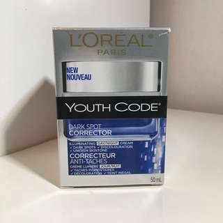 BNIB L'Oreal Youth Code Dark Spot Corrector Face Moisturizer Cream