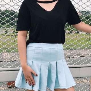 Black Choker Shirt & Tennis Skirt