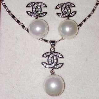 Chanel Necklace-Earrings Set