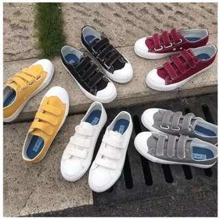 【SQUARE】🔥現貨24h寄出 下單送馬卡龍襪🔥經典韓版·魔鬼氈帆布鞋·帆布鞋·學生鞋·平底鞋·閨蜜鞋·情侶鞋