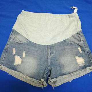 單寧牛仔孕婦短褲
