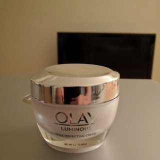 Olay luminous tone perfecting cream.