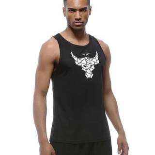 UABRAV Brahma Bull THE ROCK Inspired Singlet (BLACK)