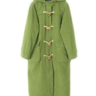 日本 古著 Vintage 草綠色冬天大衣
